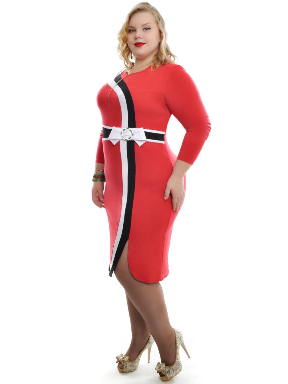 """Платье большого размера """"RED"""""""