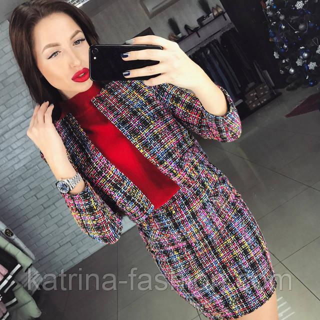 0a899a9fca7e Женский стильный твидовый костюм  пиджак и юбка, цена 610 грн ...