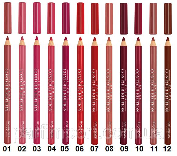 Картинки по запросу Bourjois контурный карандаш для губ levres contour