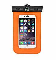 Водонепроницаемый чехол для смартфонов до 6 '' c компасом Orange, фото 1