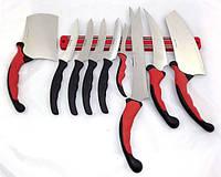 Оригинал! Набор кухонных ножей 10 в 1 Contour Pro (Контр Про) + магнитная рейка! Качество!, Скидки