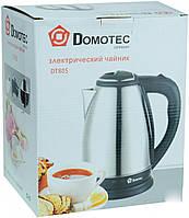 Отличный дисковый электрический чайник Domotec GERMANY - металлический корпус!