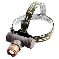 Мощный тактический налобный фонарик с зумом Bailong BL-6866  99000W + комплект , Скидки