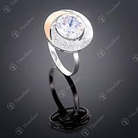 Серебряное кольцо с цирконием. Артикул П-189