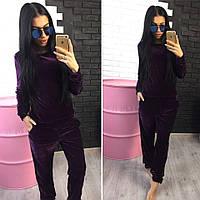 Женский модный велюровый повседневный костюм (2 цвета), фото 1
