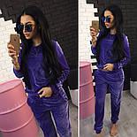 Женский модный велюровый повседневный костюм (2 цвета), фото 2