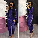 Женский модный велюровый повседневный костюм (2 цвета), фото 3