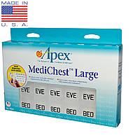 Органайзеры для таблеток Apex, MediChest, большой