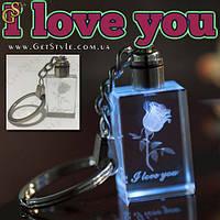 """Светящийся брелок - """"I love you"""" + подарочная упаковка!"""