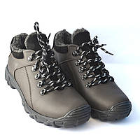 Коричневые зимние мужские кроссовки Rosso Avangard. Erelli. Кожа