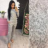Женский стильный теплый костюм из ангоры: кофта и брюки (2 цвета), фото 2