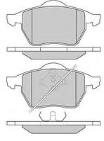 Тормозные колодки AUDI TT/Ауди ТТ ROADSTER (8N9) 1.8T 04/1999-09/2006 дисковые передние, Q-TOP QF2726S