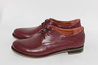 Женские кожаные туфли на низком ходу. Возможен отшив в других цветах кожи и замша