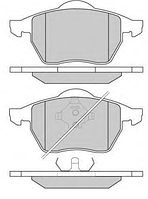 Тормозные колодки VOLKSWAGEN GOLF III VARIANT (1H5) 2.9 VR6 07/1993-04/1999 (TEVES) диск. пер., Q-TOP  QF2726S