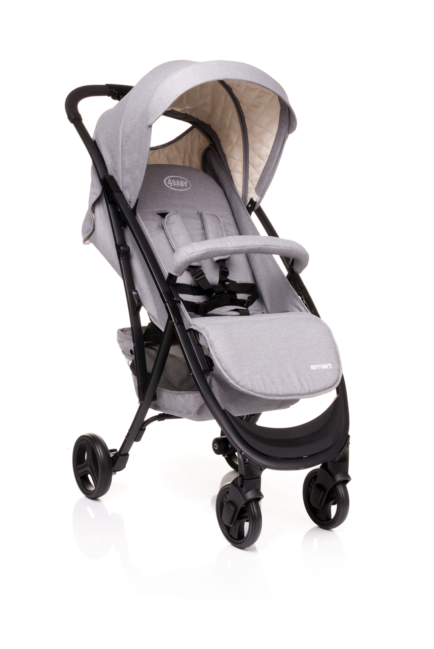 Детская прогулочная коляска 4BABY Smart Grey