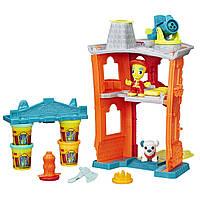 Игровой набор пластилина Play-Doh Пожарная станция. Оригинал Hasbro