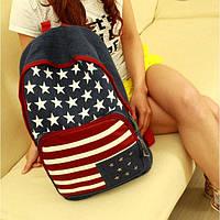 Рюкзак женский городской молодежный Американский флаг