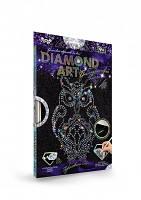 Набор для творчества DIAMOND ART, алмазная мозайка Сова, Danko Toys, DAR-01-02