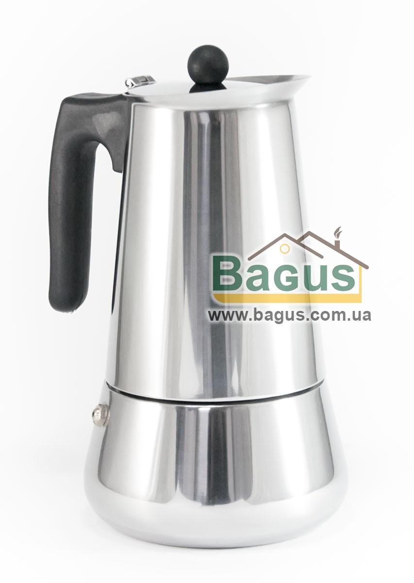 Кофеварка гейзерная из нержавеющей стали 510мл (9 чашек) с индукционным дном Edenberg (EB-1807)