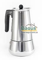 Кофеварка гейзерная из нержавеющей стали 510мл (9 чашек) с индукционным дном Edenberg (EB-1807), фото 1
