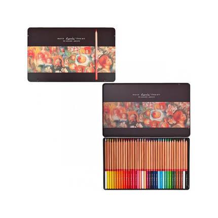 """Карандаши """"Marco"""" 36цветов FineArt-36-TN металлическая коробка Кедр, фото 2"""