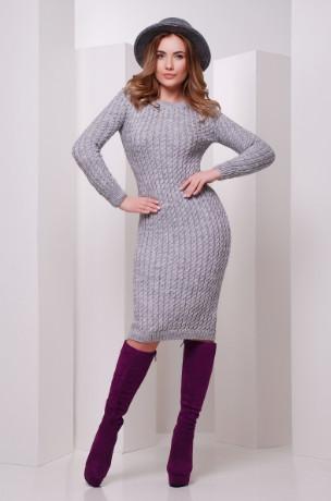 Подобные товары-1 Женского облегающего платья приталенного вязаного Крис-1