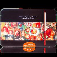 """Карандаши """"Marco"""" 48цветов FineArt-48-TN металлическая коробка Кедр"""