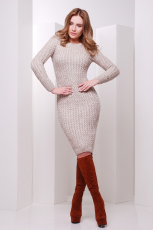 Подобные товары-6 Женского облегающего платья приталенного вязаного Крис-1