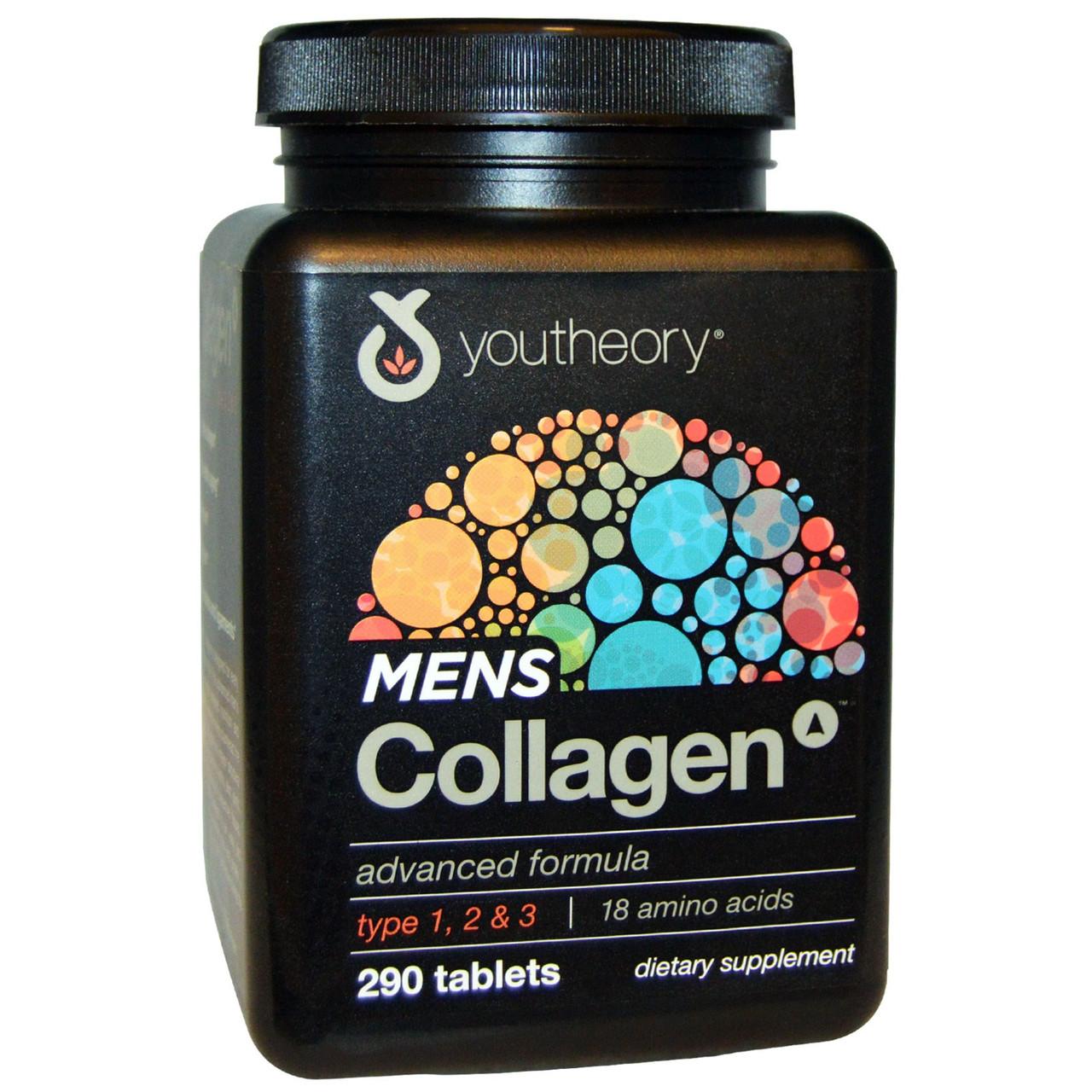 Коллаген для мужчин, Youtheory, 290 таблеток