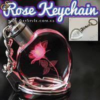 """Светящийся брелок - """"Rose Keychain"""" + подарочная упаковка"""