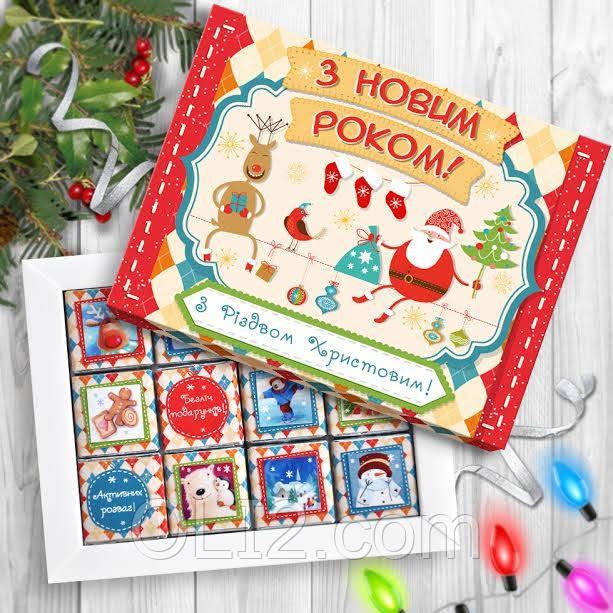 Шоколадный набор на подарок под елку