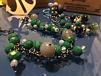 Комплект: браслет, серьги и кольцо