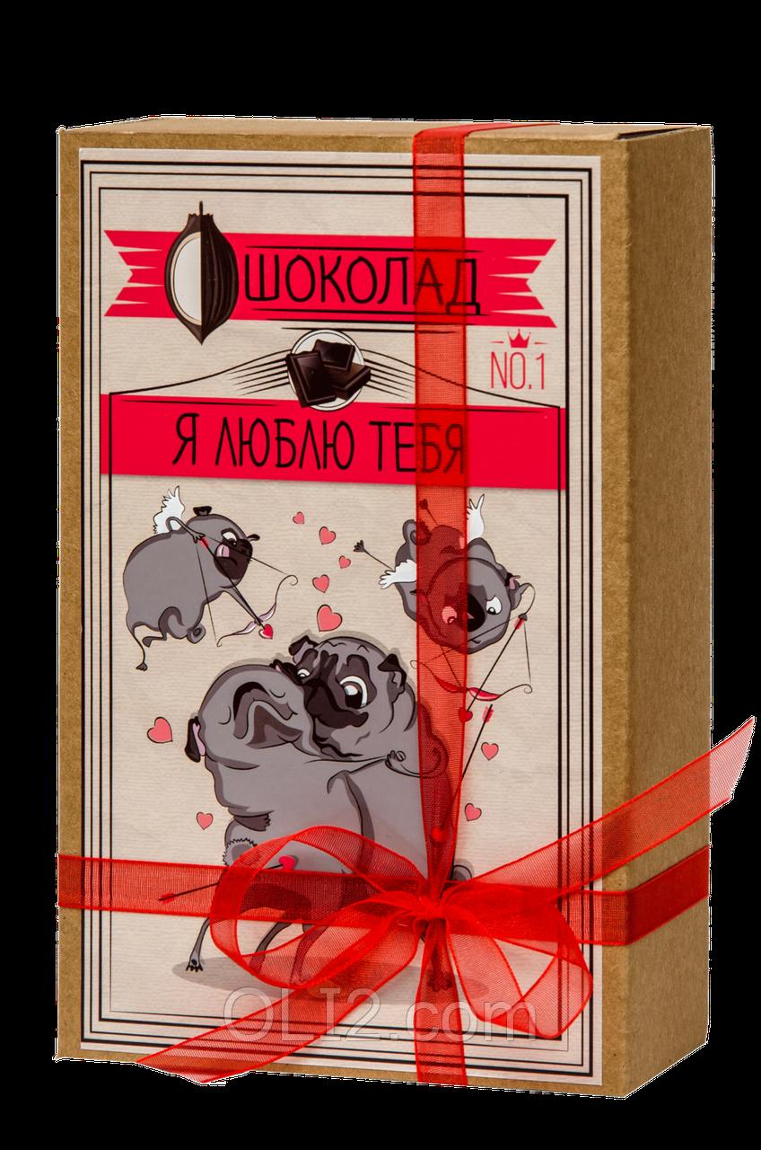 "Шоколадный набор ""КРАФТ-МОПС Я ЛЮБЛЮ ТЕБЯ''"