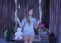 Женская пижама, короткий рукав. размеры S M L
