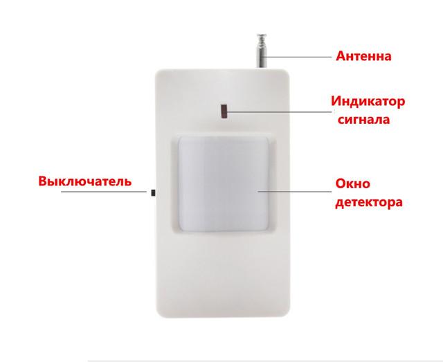 Внутренний беспроводной ИК датчик движения 433МГц Smart PIR-2