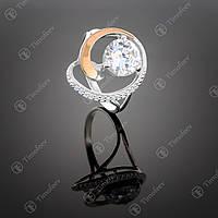 Серебряное кольцо с белым цирконием. Артикул П-192