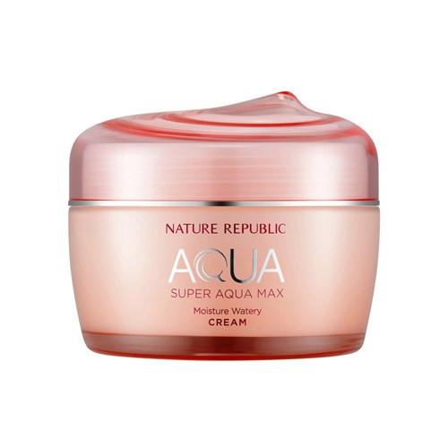 Суперувлажняющий крем для сухой кожи  NATURE REPUBLIC Super Aqua Max Moisture Watery Cream, 80 мл