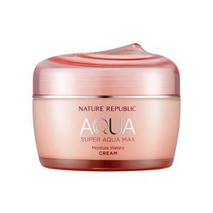 Суперувлажняющий крем для сухой кожи  NATURE REPUBLIC Super Aqua Max Moisture Watery Cream