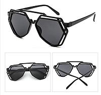Женские солнцезащитные очки оригинальной формы, Черные