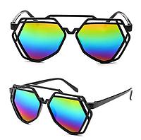 Женские солнцезащитные очки оригинальной формы, Радуга