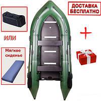 Шестиместная моторная надувная килевая лодка Bark BN-360S. Доставка бесплатно!
