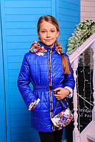 Детская демисезонная куртка Цветы