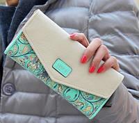 Женский, цветочный кошелек-клатч LOVE'S, фото 1