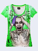 Женская футболка с 3D рисунком Leto Joker с ярким принтом с 42 по 50 размер.