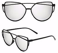 Женские солнцезащитные очки, Кошачий Глаз, Зеркальные