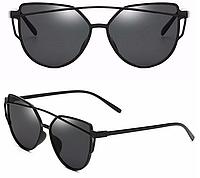 Женские солнцезащитные очки, Кошачий Глаз, Черные
