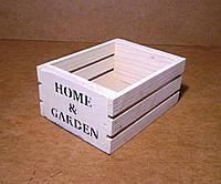 Ящик деревянный под цветы, белый, 18х13,5х8 см, фото 1