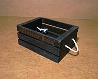 Ящик деревянный под цветы, черный, 18х13,5х8 см, фото 1