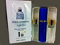 Мужской Подарочный набор  3 по 15 мл Туалетная вода Dolce & Gabbana Light Blue Living Stromboli