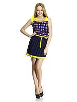 Яркое шифоновое платье Жучок